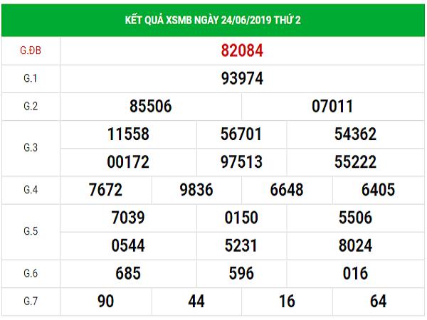 Soi cầu lô đẹp dự đoán kết quả XSMB thứ 3 ngày 25/6/2019