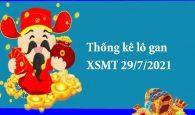 Thống kê lô gan XSMT 29/7/2021